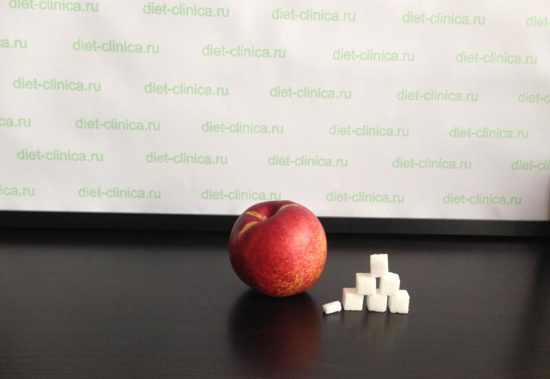 Сахар в персике