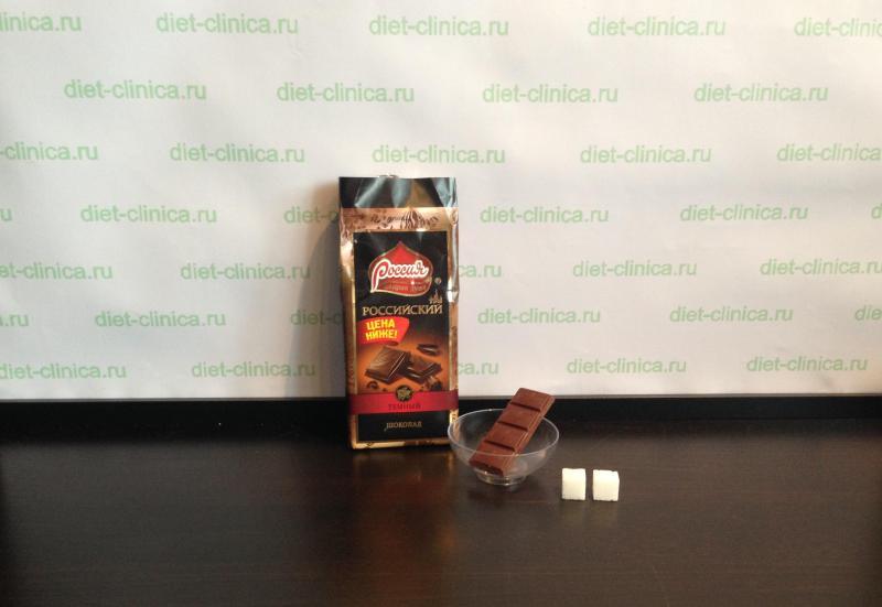Сахар в черном шоколаде