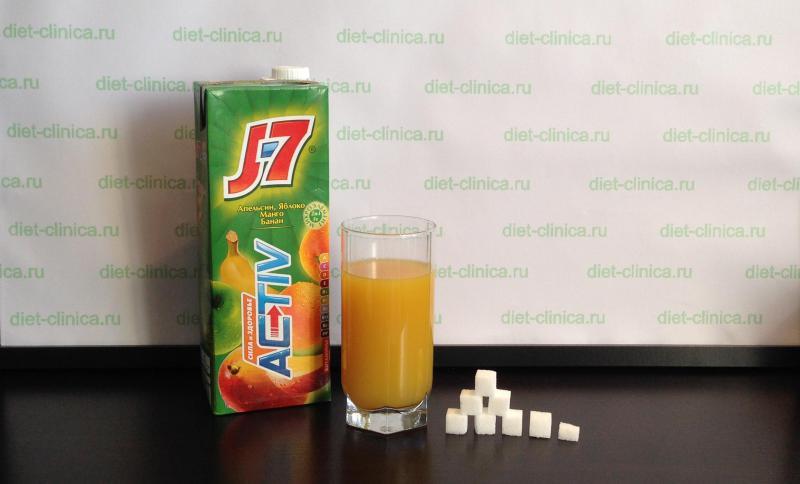 Сахар в соке мультифрукт