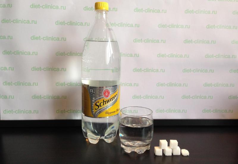 Сахар в тонике Швепс