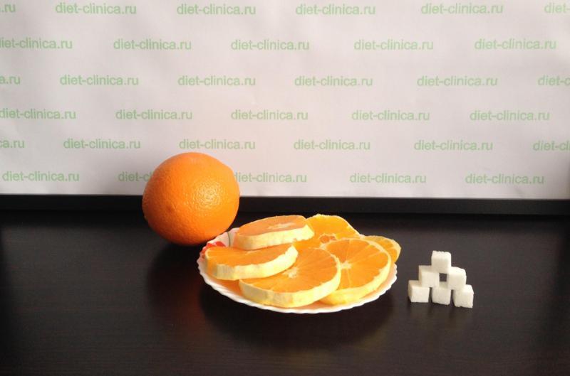 Сахар в апельсине