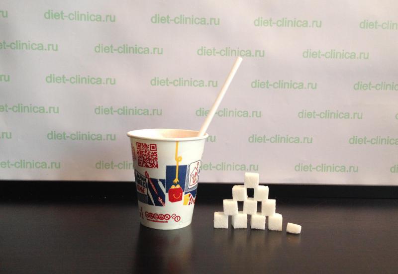 Сахар в молочном коктейле