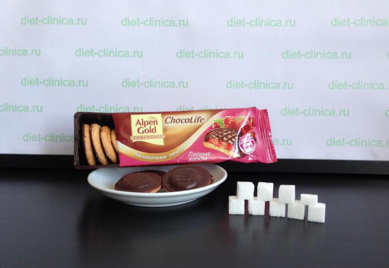 Сахар в печенье Альпен Гольд